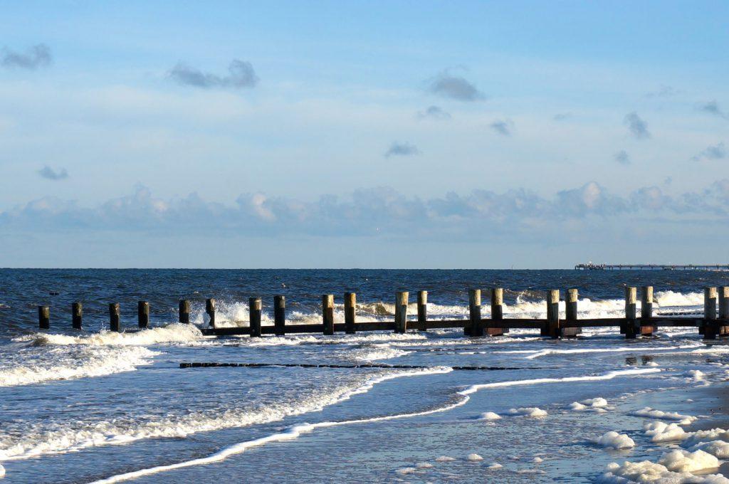 Wellen in Kühlungsborn an der Ostsee