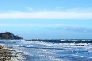 Winter am Strand von Kühlungsborn