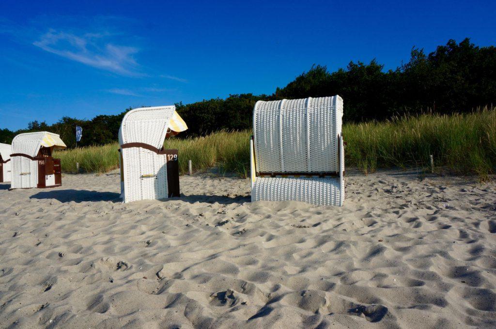 Strandkörbe am Ostsee Strand von Kühlungsborn