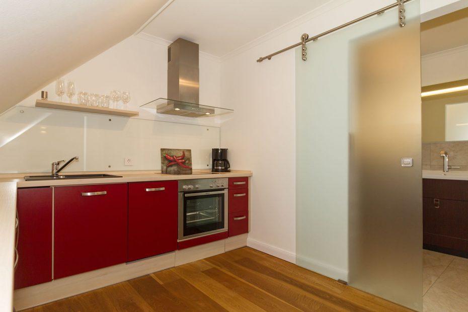 Küchenzeile in der Villa Löwenstein Apartment 13