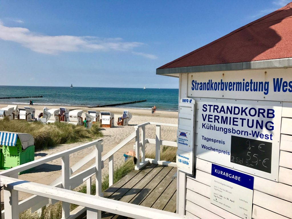 Strandkorbvermietung am Ostseestrand von Kühlungsborn