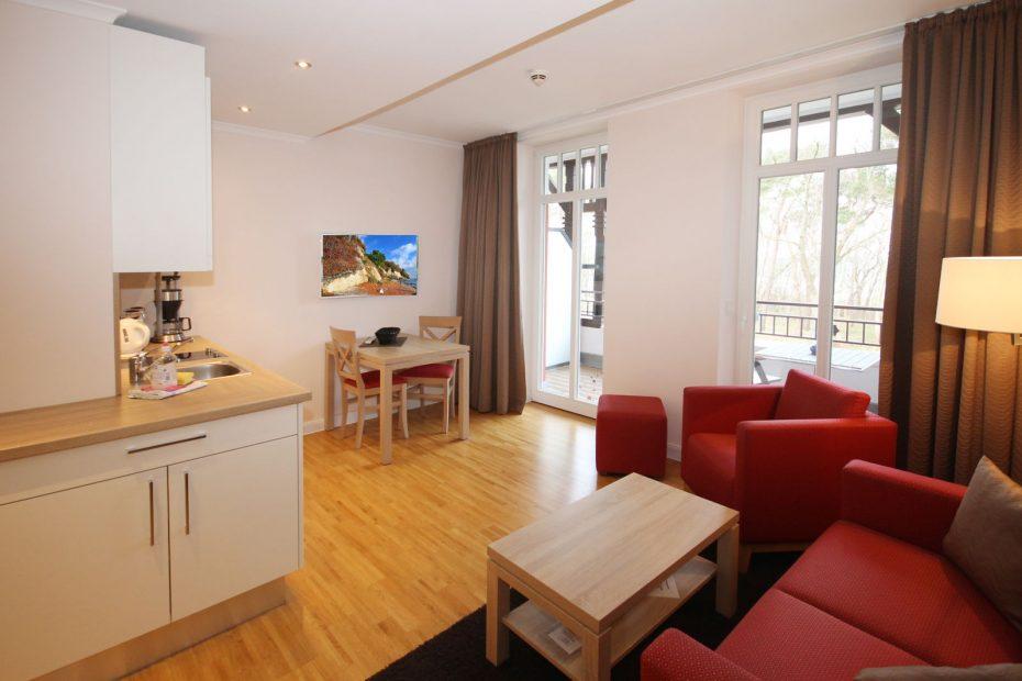 Wohnbereich des Apartment 10