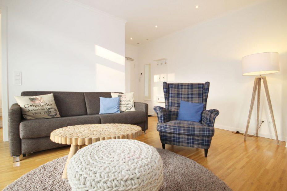 Wohnbereich im Apartment 15