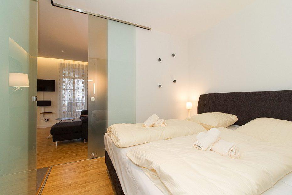 Wohnung 05  Bett