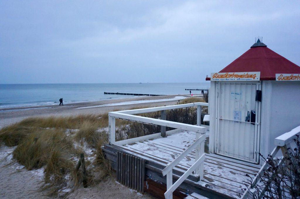 Kühlungsborn Strand im Winter